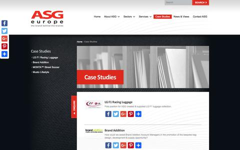 Screenshot of Case Studies Page asggroup.net - Case Studies Archive | ASG Group Europe - captured Oct. 7, 2017
