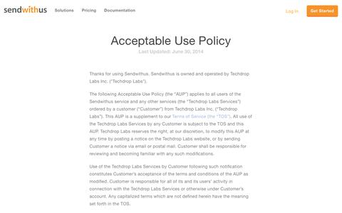 Acceptable Use Policy · Sendwithus