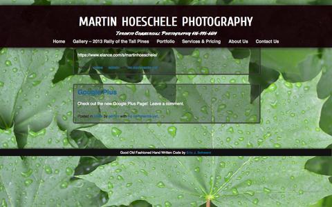 Screenshot of Press Page mhphotography-toronto.com - news | martin hoeschele photography - captured Oct. 1, 2014
