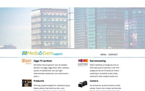 Screenshot of Menu Page media-eventsupport.nl - Home   Media & Eventsupport - captured Oct. 27, 2014
