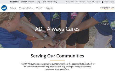 ADT Always Cares Community Service Program | ADT