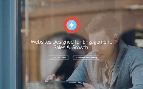 Screenshot of Home Page pixelhero.com.au - Web Design Parramatta | Graphic and Logo Design Sydney - captured Sept. 18, 2015