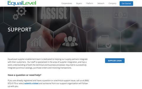 Screenshot of Support Page equallevel.com - Support - EqualLevel - captured Aug. 14, 2017