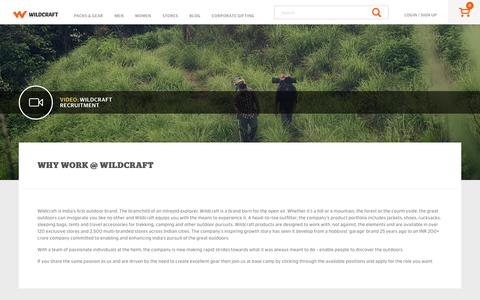 Screenshot of Jobs Page wildcraft.in - Work at Wildcraft - captured Nov. 2, 2017