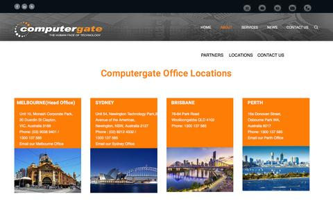 Screenshot of Locations Page computergate.com.au - Locations | computergate - captured Aug. 2, 2016