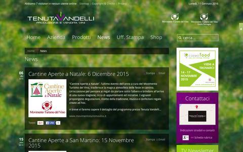 Screenshot of Press Page tenutavandelli.it - News - captured Jan. 11, 2016