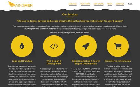 Screenshot of Home Page wng.mn - London Web Development & Design Company   Logo & SEO ServiceWingmen Digital Studio - captured Oct. 8, 2014