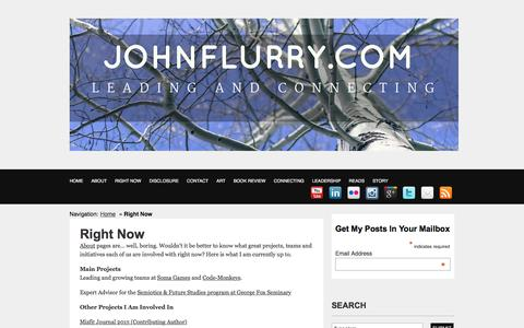 The JohnFlurry Blog | Right Now