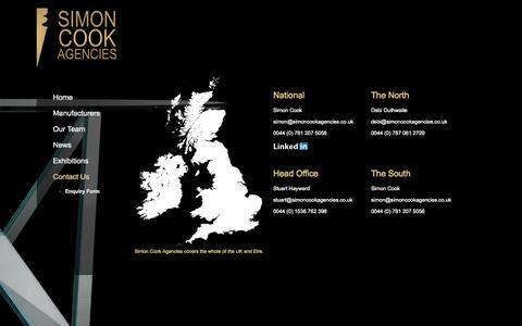 Screenshot of Contact Page simoncookagencies.co.uk - Desede Furntiure | Simon Cook Agencies - captured Oct. 26, 2014