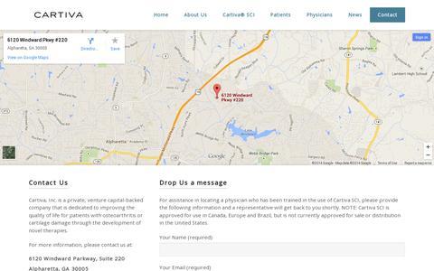 Screenshot of Contact Page cartiva.net - Contact | Cartiva - captured July 19, 2014
