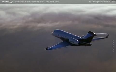 Screenshot of Home Page flexjet.com - Fractional Private Jet and Aircraft Ownership | Flexjet - captured April 25, 2018