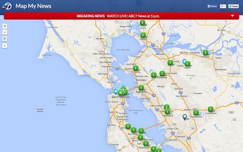 Screenshot of Maps & Directions Page abc7news.com - Map My News | abc7news.com - captured Sept. 18, 2014