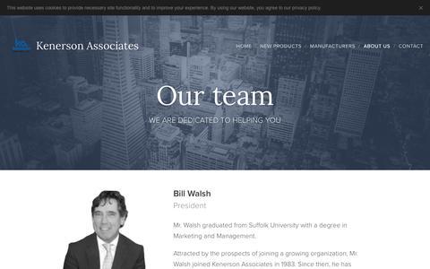 Screenshot of Team Page kenerson.com - Our team :: Kenerson Associates - captured Oct. 15, 2018
