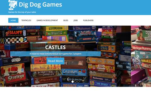 Screenshot of Home Page digdoggames.com - Dig Dog Games – Games for the top of your table - captured Dec. 3, 2016