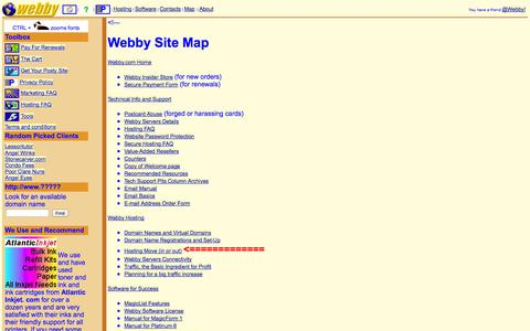 Screenshot of Maps & Directions Page webby.com - Webby Site Map - captured Oct. 26, 2014