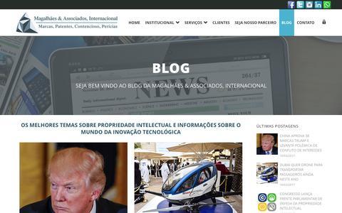 Screenshot of Blog lcmagalhaes.com.br - Magalhães & Associados, Internacional   –  BLOG - captured March 10, 2017
