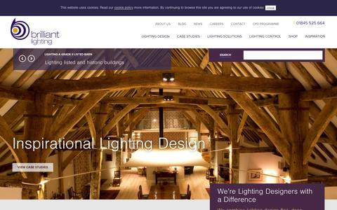 Screenshot of Home Page brilliantlighting.co.uk - We're Lighting Designers with a Difference | Brilliant Lighting - captured Dec. 4, 2015