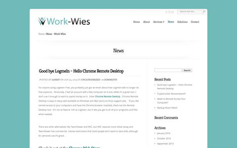 Screenshot of Press Page work-wies.com - News - Work-Wies - captured Oct. 7, 2014
