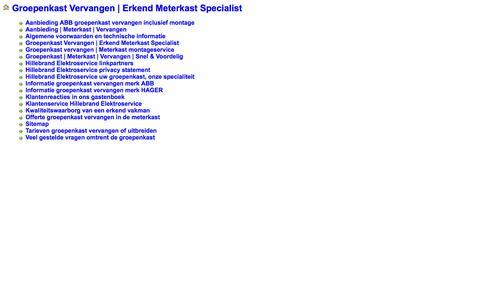 Screenshot of Site Map Page elektroklus.nl - SiteMap - captured Oct. 8, 2014