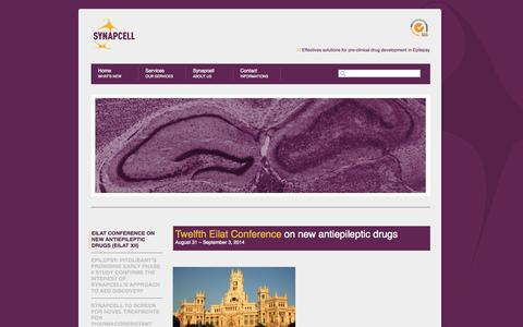 Screenshot of Press Page synapcell.fr - News «  Synapcell - captured Sept. 17, 2014