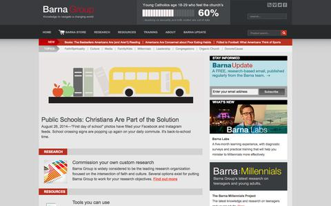 Screenshot of Home Page barna.org - Barna Research - Barna Group - captured Oct. 5, 2014