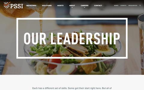 Screenshot of Team Page pssi.com - Leadership - PSSI - captured Jan. 18, 2019