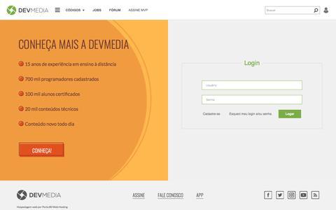 Screenshot of Login Page devmedia.com.br - Login - DevMedia - captured June 20, 2017