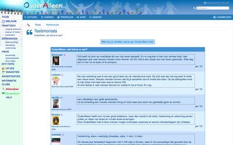 Screenshot of Testimonials Page ouderalleen.nl - Testimonials - captured Nov. 27, 2016