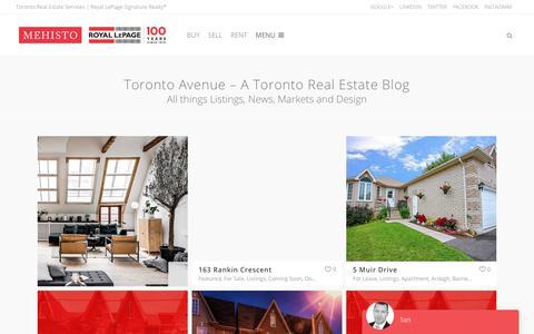 Screenshot of Blog ianmehisto.com - Toronto Avenue - A Toronto Real Estate Blog - Toronto Real Estate Agent - Ian Mehisto, Sales Representative at Royal LePage Signature Realty, Brokerage - captured Oct. 14, 2017