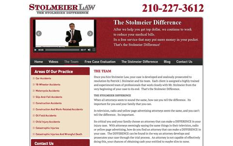 Screenshot of Team Page stolmeierlaw.com - The Team - Stolmeier Law - captured Oct. 2, 2014