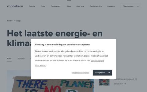 Screenshot of Blog vandebron.nl - Duurzame energie van Nederlandse bodem - Vandebron - captured July 14, 2019