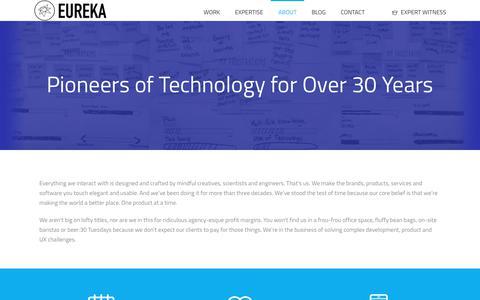 Screenshot of About Page eurekasoft.com - About Eureka Software   Custom Software   Cloud Services, iOS Developer, HTML 5 Developer - captured June 23, 2018