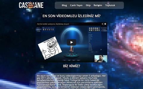 Screenshot of Home Page casthane.net - Casthane - Oyun Kanalı - captured Sept. 29, 2014