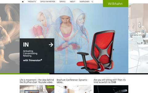 Screenshot of Home Page wilkhahn.com - Ergonomic task chairs and dynamic conference tables - Wilkhahn - captured Oct. 23, 2015