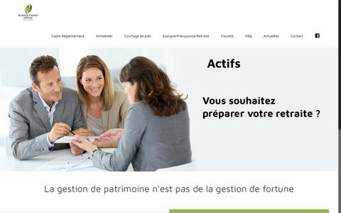 Screenshot of Home Page alsace-family-office.fr - Alsace Family Office - Alsace Family Office - captured Oct. 25, 2018