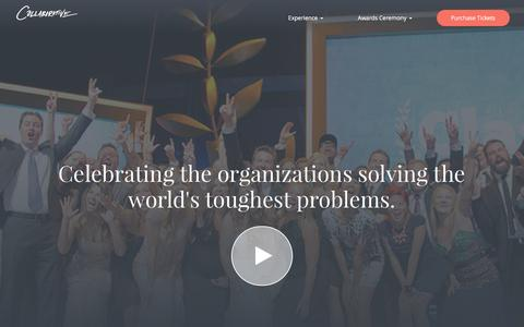 Screenshot of About Page classy.org - The Classy Awards | Celebrate Progress in the Social Sector - captured Jan. 30, 2017