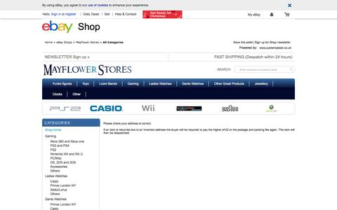 Screenshot of Terms Page ebay.co.uk - Items in Mayflower Stores store on eBay ! - captured Oct. 17, 2017