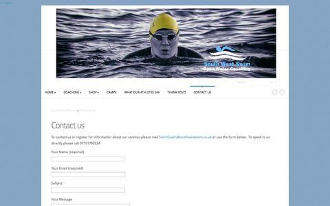 Screenshot of Contact Page southwestswim.co.uk - Contact us | SouthWestSwim - captured Oct. 7, 2014