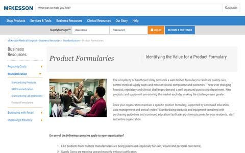 Product Formularies - McKesson Medical-Surgical