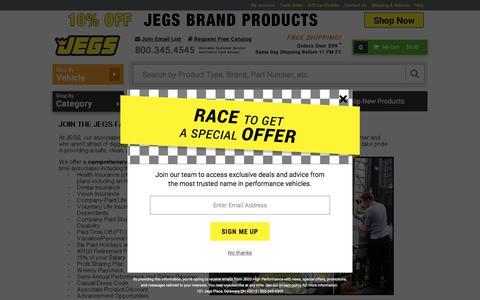 Screenshot of Jobs Page jegs.com - JEGS - captured Sept. 21, 2018