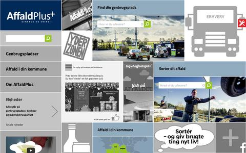 Screenshot of Home Page affaldplus.dk - AffaldPlus   - captured Dec. 24, 2015