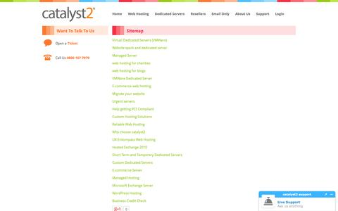 Screenshot of Site Map Page catalyst2.com - Sitemap | Catalyst2 - captured Sept. 30, 2014