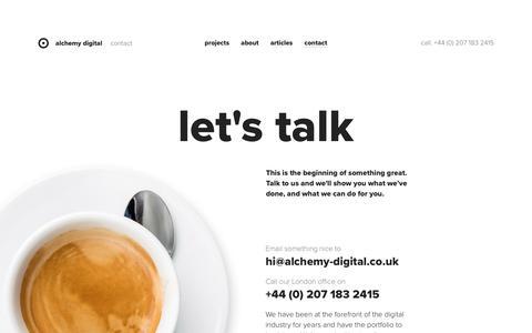 Contact - Alchemy Digital
