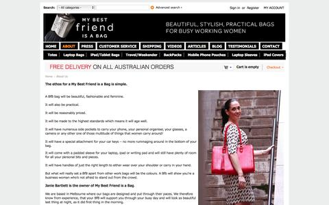 Screenshot of About Page mybestfriendisabag.com.au - My Best Friend Is A Bag | Beautiful Bags for Busy Women - captured Feb. 22, 2016