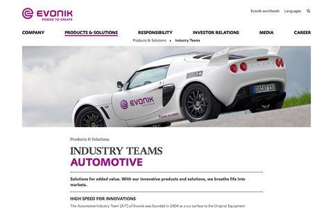 Automotive - Evonik Industries AG