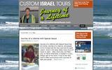 New Screenshot CustomIsraelTours.com Blog
