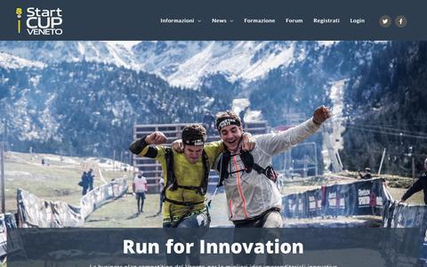 Screenshot of Home Page startcupveneto.it - Home - Start Cup Veneto - captured Sept. 21, 2018