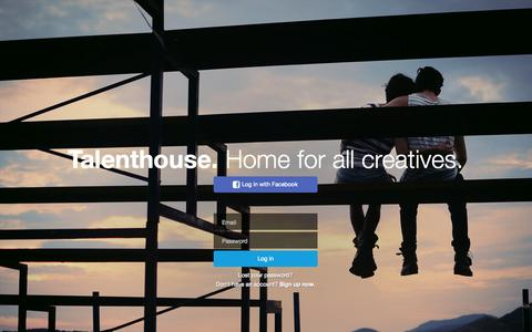 Screenshot of Login Page talenthouse.com - Talenthouse - captured Sept. 17, 2014