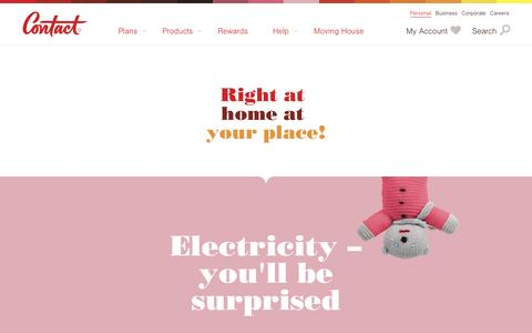 Screenshot of Products Page contact.co.nz - Contact Energy - Products - captured April 29, 2017
