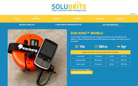Screenshot of Products Page solubrite.com - Products Archive - Solubrite - captured Jan. 11, 2016